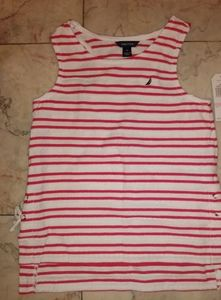 NWT Nautica Tank Top with Side Tie Details
